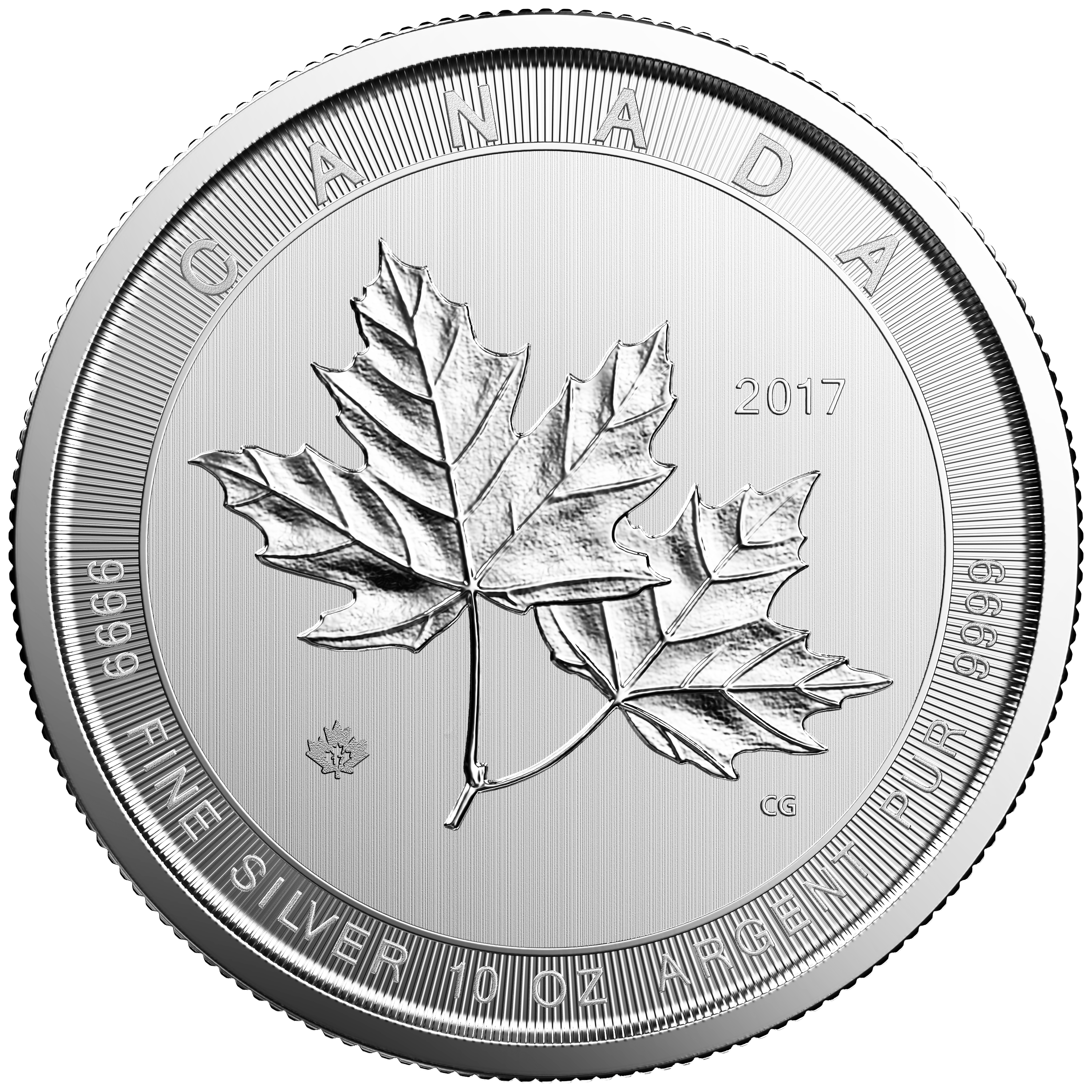 10 Unzen Silbermünze Kanada Magnificent Maple Leaf 2017