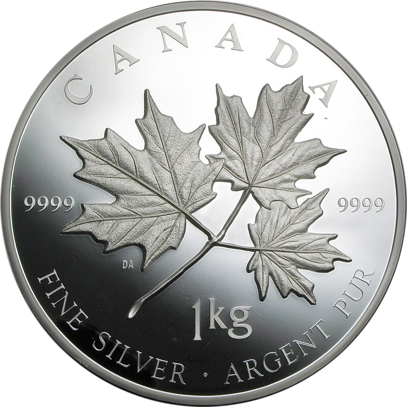 1 Kilogramm Silbermünze Maple Leaf 2011 Proof