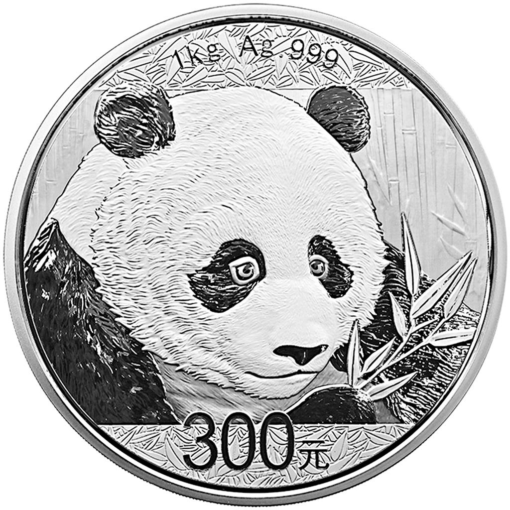 1 Kilogramm Silbermünze China Panda 2018 Proof