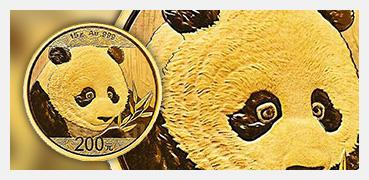 Goldmuenze China Panda 2018